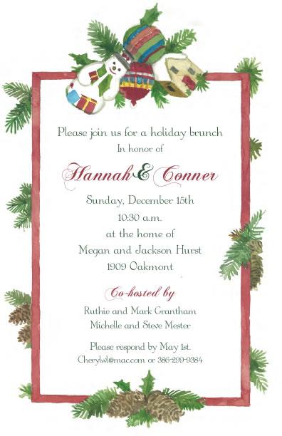 Christmas Memories.Christmas Memories Party Invitation